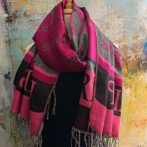 Accessories - Pink Paris Eiffel Tower Pashmina Scarf